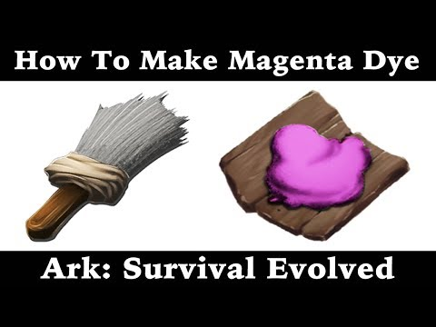 How To Make Magenta Dye - Paint - Ark: Survival Evolved