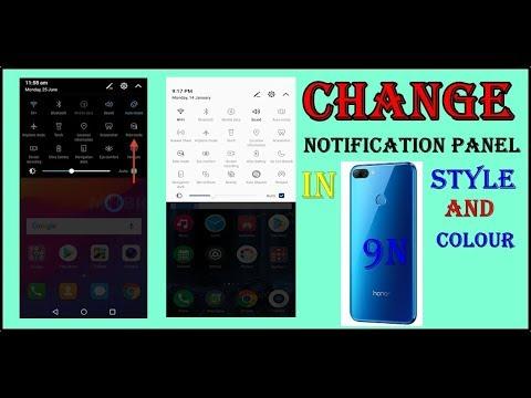 Honor 9n notification panel change in hindi
