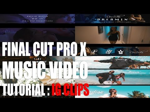 Final Cut Pro X Tutorial - Instagram IG Promo Clips