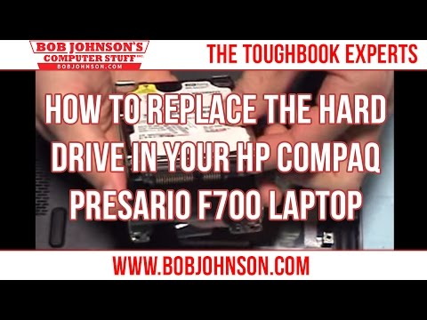 How to replace the Hard Drive in your HP Compaq Presario F700 Laptop