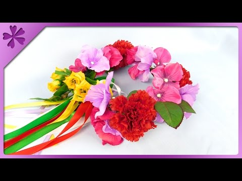 DIY Flower head wreath (ENG Subtitles) - Speed up #234