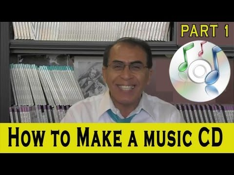 How to burn (make) a music CD: Simple instructions with Professor Jay