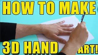 How To Make 3D HAND ART! | EASY ART