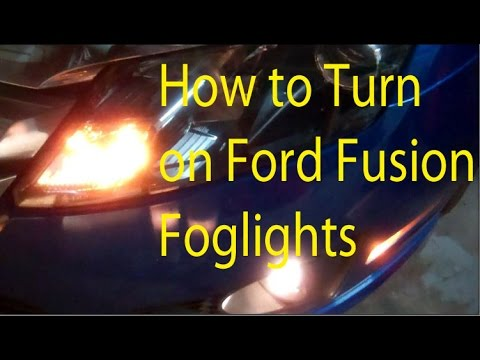 How to Turn on Ford Fusion Fog Lights