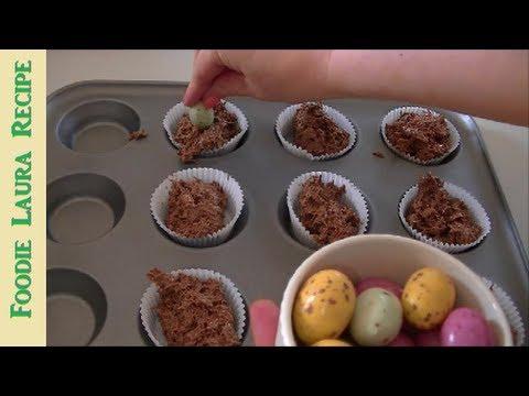 Shredded Wheat Chocolate Nests