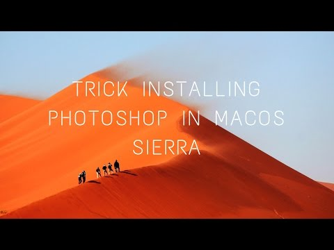 Trick how to install adobe photoshop in mac os sierra