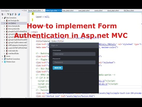 How to implement Form Authentication in Asp.net MVC