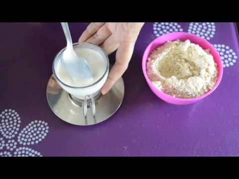 केसर बादाम मिल्क पाउडर / Instant Badaam Milk Powder in Hindi ( 1 year+)