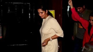 Sania Mirza Spotted at Estella Hotel in Juhu, Mumbai