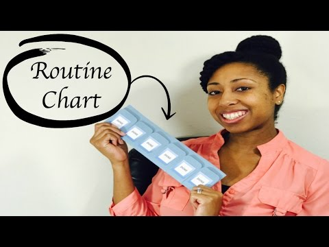 Morning Routine Chart | Chore Chart Tutorial
