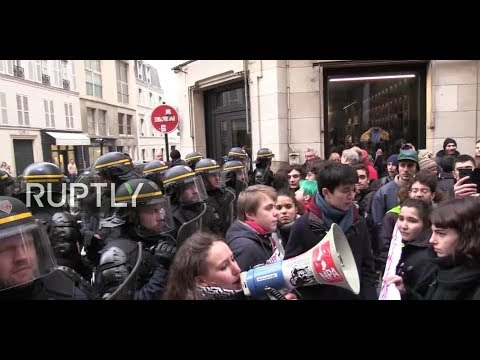 LIVE: Teachers and students march in Paris against educational reforms