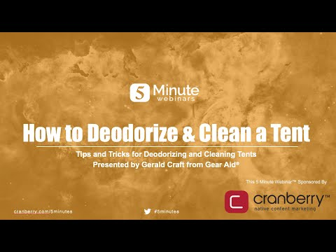 How to Deodorize & Clean a Tent