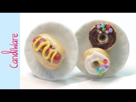 Watch Me Craft Hot Dog and Doughnut Cuff Links || Polymer Clay