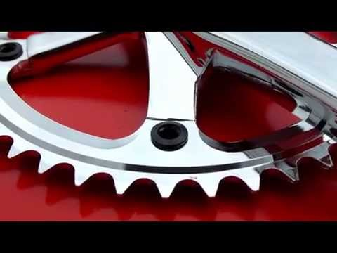 MIRRORED 2015 Rumpus Fixie Bike Tracket Crankset Sugino Style Full Alloy 46T fixiesupermarket.com