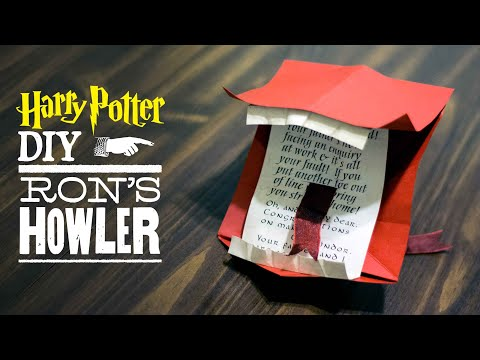 DIY Howler Letter from Harry Potter