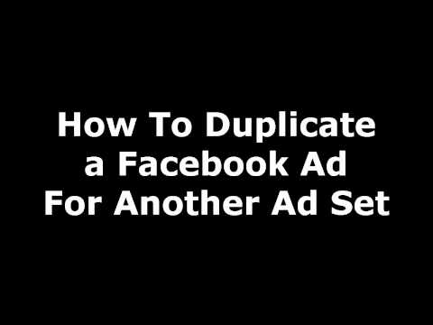 How To Duplicate a Facebook Ad For Another Ad Set