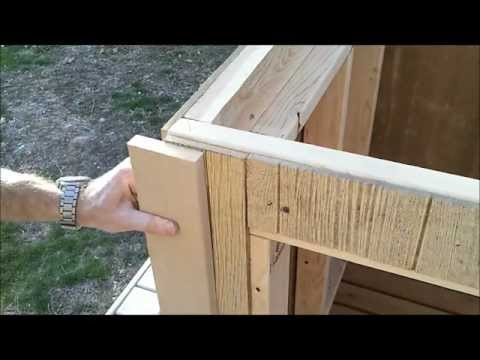 5-Shed Trim Install - How to Build a Generator Enclosure