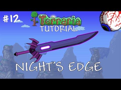 Terraria 1.3 Tutorial – How to make the Night's Edge – Best Pre hardmode sword - Tutorial 12