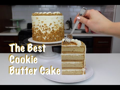 The Best Cookie Butter Cake | CHELSWEETS