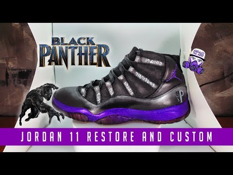 Black Panther Jordan 11 customs