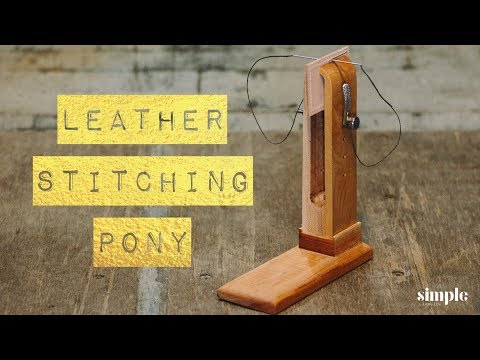 Jeremy's Stitching Pony - How to make it from wood (DIY woodworking)