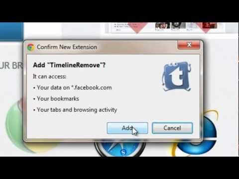 How to remove your Facebook timeline on Google Chrome