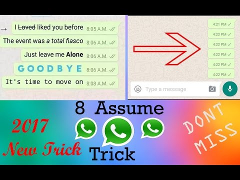 Top 8 Mast Whatsapp Trick || You Don't Know || 2018 New Trick || Don't Miss