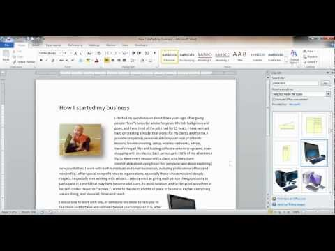 How to insert a picture or clipart into a Word document.mp4