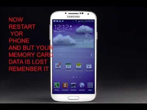 SAMSUNG GALAXY S4  HARD RESET ......and unlock locked screen