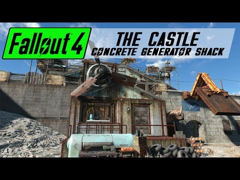 Fallout 4 Settlement Build - The Castle | Generator Shack