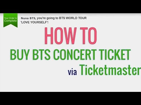 How to buy BTS concert tickets via Ticketmaster.com