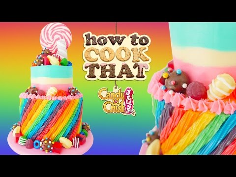 CANDY CRUSH JELLY SAGA CAKE How To Cook That Ann Reardon #spon