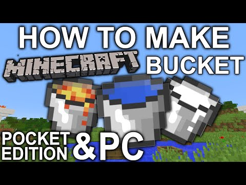 How to Make A Minecraft Bucket Pocket Edition & PC - Xbox - PS4 - PS3