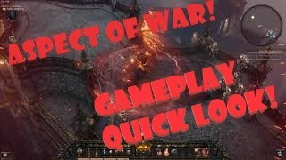 Aspect of War Gameplay! Quick Look Wolcen : Lords of mayhem