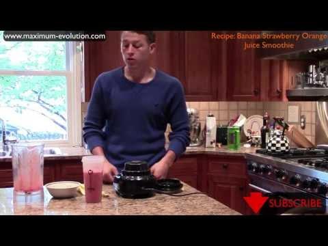 Banana Strawberry Orange Juice Smoothie Recipe