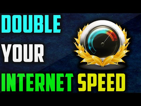 DOUBLE YOUR INTERNET SPEED ON WINDOWS 10, 8, 8.1, 7
