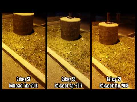 Galaxy S7 VS Galaxy S8 VS Galaxy S9 Low Light Camera Comparison (Big Difference?)