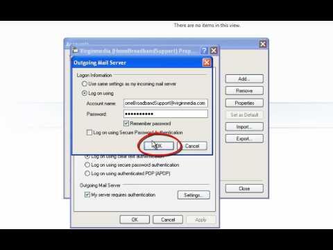 Windows Live mail  POP3 Virgin Media e-mail settings