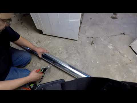 Cut 4 inch round duct work dryer vent assembled