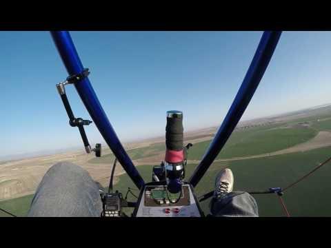 Takeoff flight powered parachute pcc parasavenj sport pilot training