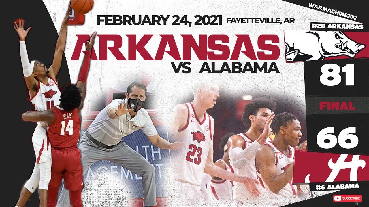 #20 Arkansas vs. #6 Alabama 2/24/2021
