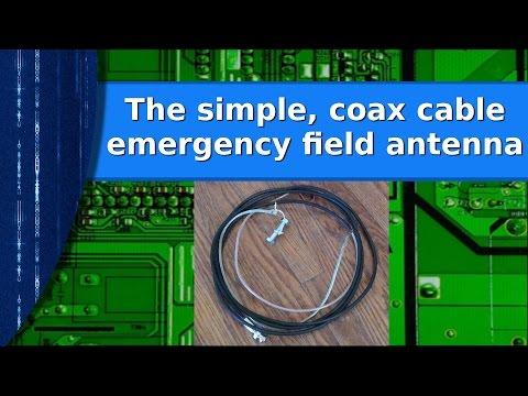 Ham Radio - The simple coax cable emergency prepper antenna.