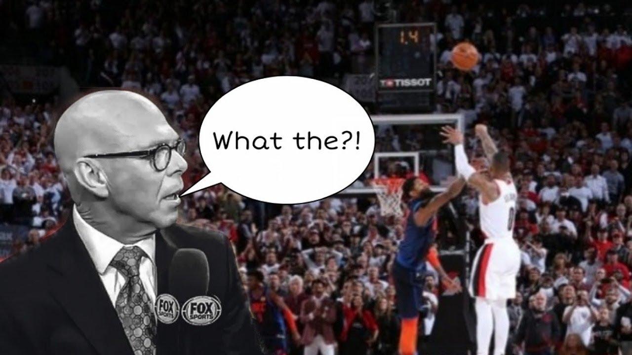 NBA Losing Team Announcers calling Game Winners