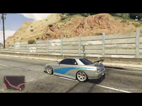 GTA5 ONLINE autoroute nissan skyline