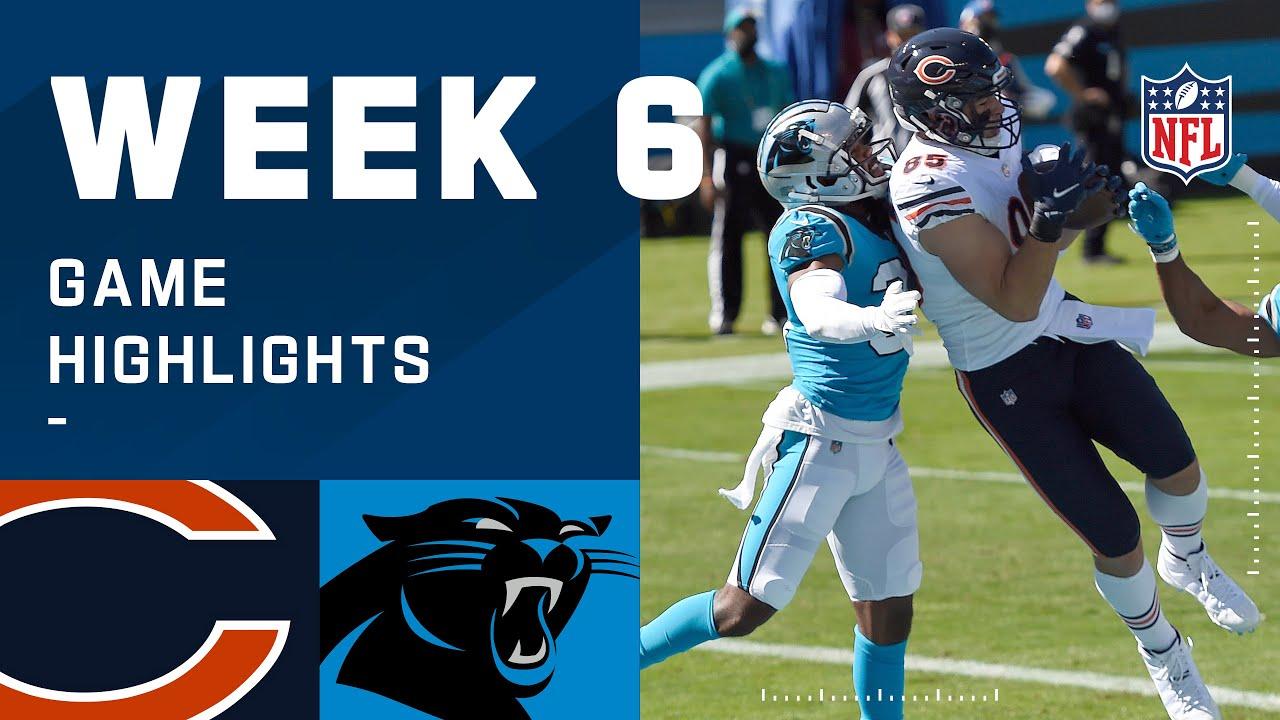Bears vs. Panthers Week 6 Highlights | NFL 2020