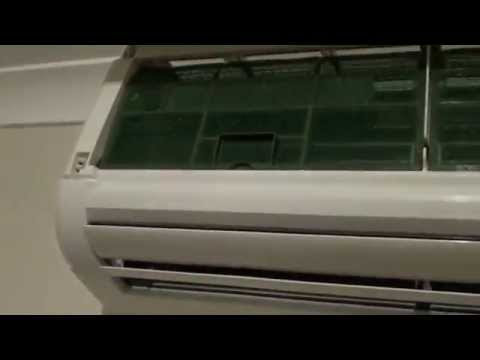Mitsubishi Air conditioner: How to Remove Air Filter and Clean Air Vent