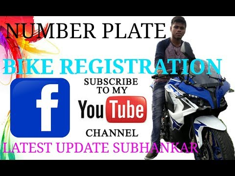MY BIKE REGISTRATION AND NUMBER PLATE NEW PROCESS#pulsur rs 200 2017 #
