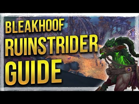 How to Get Bleakhoof Ruinstrider Mount & Demonslayer Title Patch 7.3 - WoW Legion