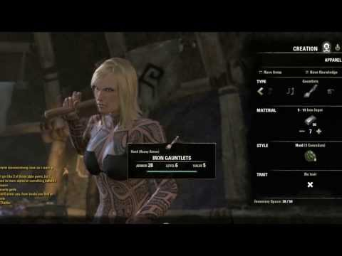 Elder Scrolls Online Smithing Guide / Tutorial Crafting Styles Armor Weapons Part 1