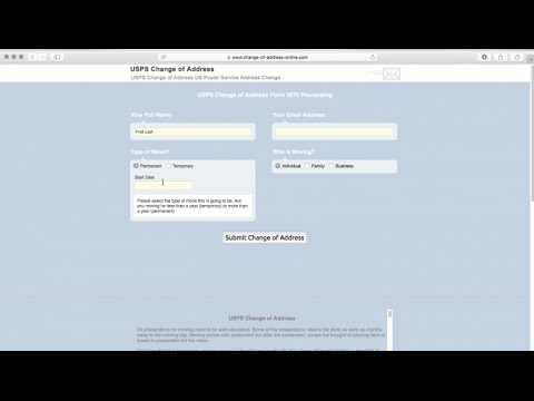 USPS Address Change - Change of Address Online Filing
